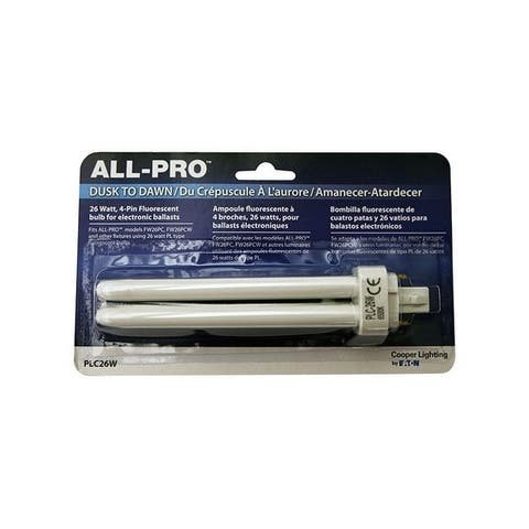 All-Pro Cooper Lighting by Eaton CFL Bulb 26 watts 1100 lumens Double Tube 6.5 in. L Cool White