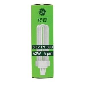 GE Ecolux Fluorescent Bulb 42 watts 3200 lumens Triple Biax T4 6.4 in. L Warm White 1 pk (Metal)