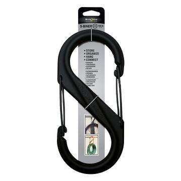 Nite Ize Plastic S-Biner Black 100 lb. 10.43 in. L 1 pk