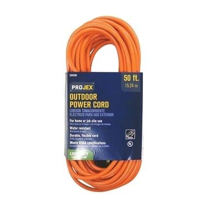 Projex Indoor and Outdoor Extension Cord 16/3 SJTW 50 ft. L Orange