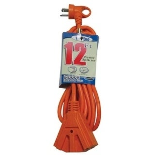 Conntek Indoor Extension Cord 14/3 SJT 12 ft. L Orange