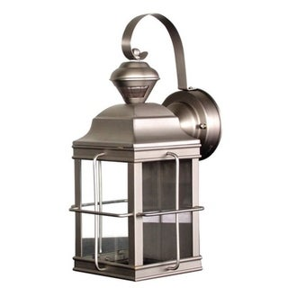 Link to Heath Zenith  Brushed Nickel  Metal  Carriage Lantern  Motion-Sensing  Incandescent  100 watts Similar Items in Electrical