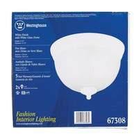 Westinghouse  White  Ceiling Fixture  6-3/4 in. H x 9-1/2 in. W