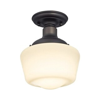 Westinghouse Scholar Oil Rubbed Bronze Ceiling Fixture 7.36 in. D x 9-1/16 in. H x 7-3/8 in. W