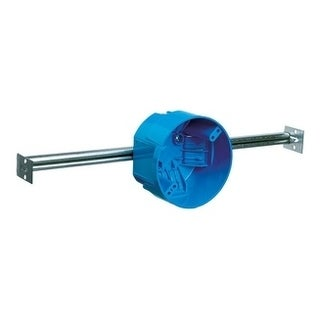 Carlon 4 in. H Round Electrical Box with Hanger Bar Blue PVC