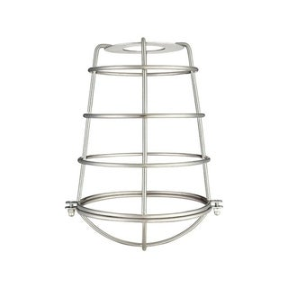 Westinghouse Cylindrical Brushed Nickel Metal Protective Light Cage Shade