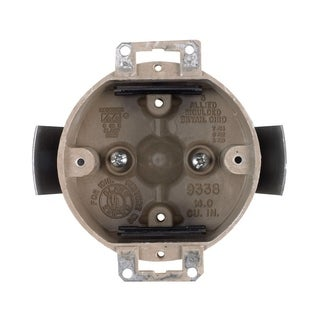 Allied Moulded 2-1/4 in. H Round Outlet Box Beige/Tan Fiberglass