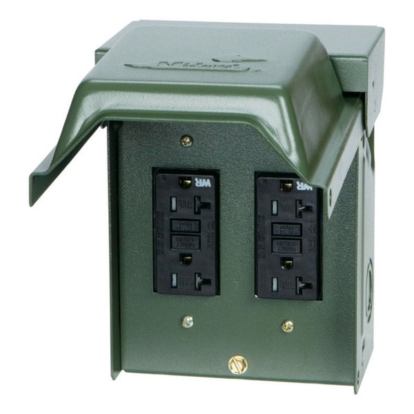 GE Midwest 20 amps 120 volts Surface Power Outlet Box - Free ...