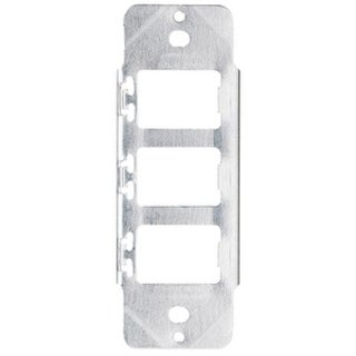 Pass & Seymour 3 gang Bright Zinc Steel Despard Wall Plate Mounting Strap 1 pk