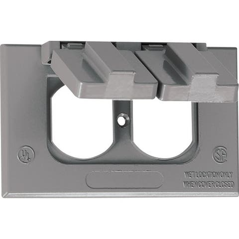 Sigma Rectangle Die cast Aluminum 1 gang Electrical Cover For Wet Locations Gray