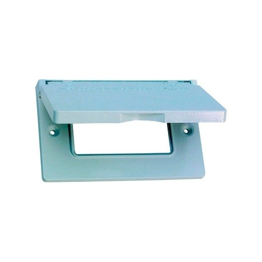 Sigma  Rectangle  Aluminum  1 gang Electrical Cover  For Horizontal Mount White