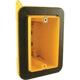 Raco 5-7/8 in. H Rectangle 1 Gang Electrical Box Vapor Barrier 3/4 in. Yellow Noryl