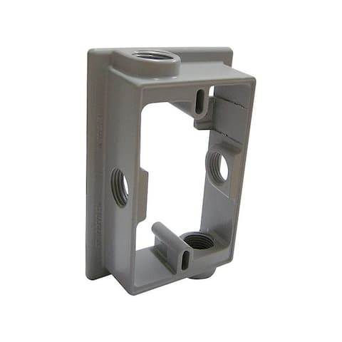 Sigma Rectangle Aluminum 1 gang Extension Ring For Closure of Unused Box Outlets Gray