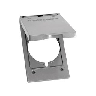 Sigma Rectangle Aluminum 1 gang Electrical Cover For 1 Receptacle Gray