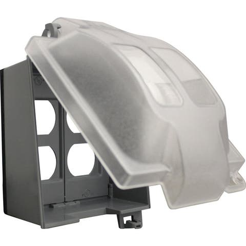Sigma Rectangle Plastic 2 gang Duplex GFCI Cover For Wet Locations Clear