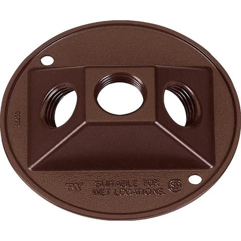 Sigma Round Aluminum Electrical Cover For Light Fixtures Bronze