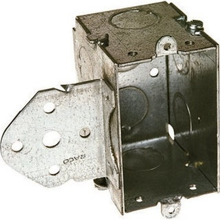 Raco 3-3/8 in. H Rectangle 1 Gang Switch Box 1/2 in. Gray Steel