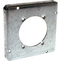 Raco  Square  Steel  2 gang Electrical Cover  For 1 Receptacle Gray