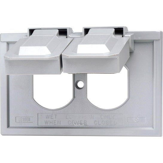 Shop Leviton Rectangle Thermoplastic 1 Gang Weatherproof Cover For