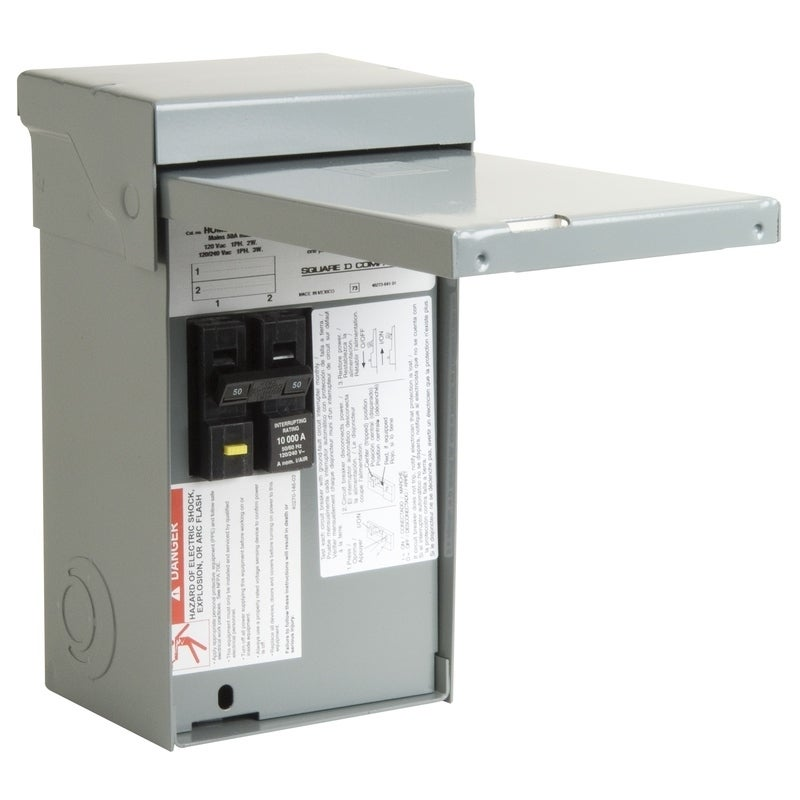 Square D 50 amps 2 space 4 circuits 120/240 volts Surface...