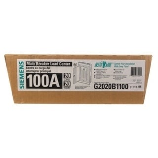 Siemens ES 100 amps 20 space 20 circuits 120/240 volts Plug-In Single Pole Meter Breaker Load Center