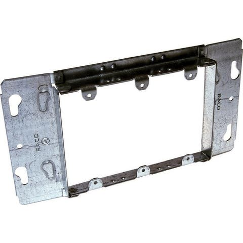 Raco Rectangle Steel 3 gang Electrical Box Cover For Used in Finish Wall Applications to Mount Switches or Receptacles