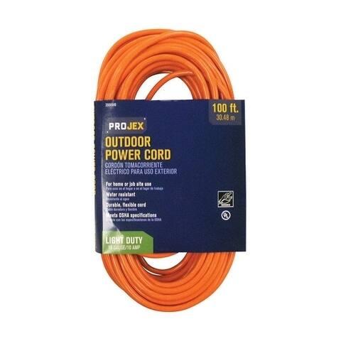 Projex Indoor and Outdoor Extension Cord 16/3 SJTW 100 ft. L Orange