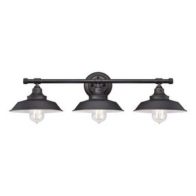 Westinghouse Oil Rubbed Bronze Iron Hill 3 Light Wall Fixture 1 pk