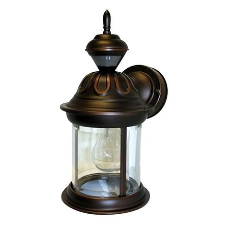 Heath Zenith Bronze Metal Wall Lantern Motion-Sensing 120...
