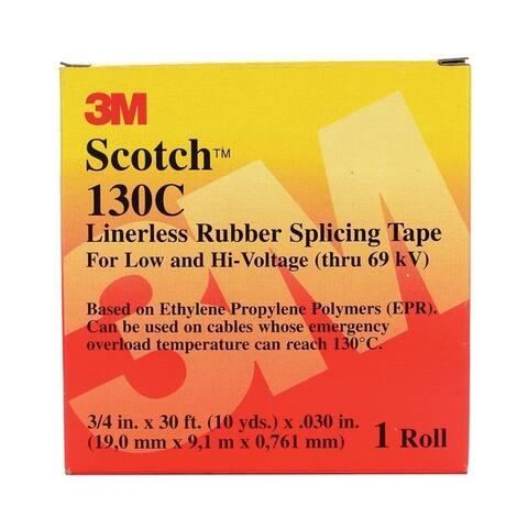 Scotch 3/4 in. W x 30 ft. L Vinyl Splicing Tape Black
