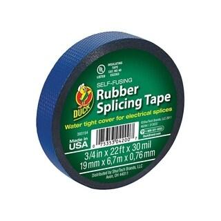 Duck 3/4 in. W x 22 ft. L Rubber Splicing Tape Blue