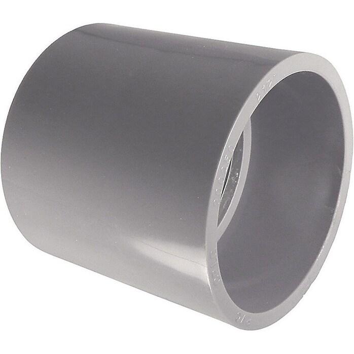 CANTEX 3/4 in. Dia. PVC Electrical Conduit Coupling, Grey