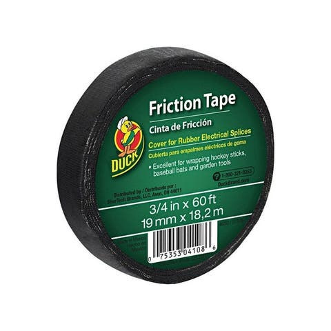 Duck 3/4 in. W x 60 ft. L Friction Tape Black
