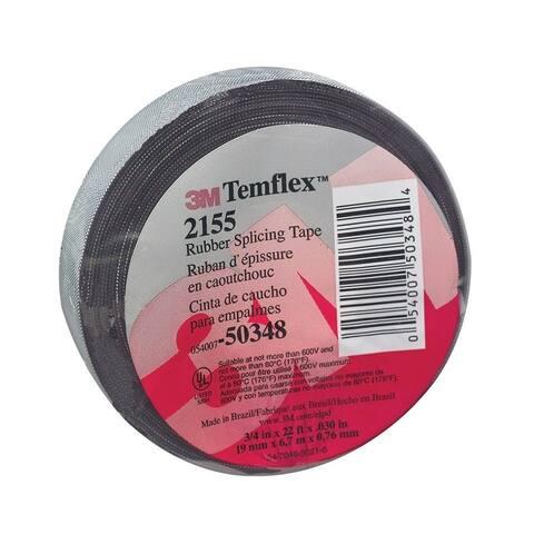 Temflex 3/4 in. W x 22 ft. L Rubber Splicing Tape Black