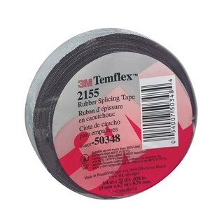 Temflex 3/4 in. W x 22 ft. L Rubber Splicing Tape Black