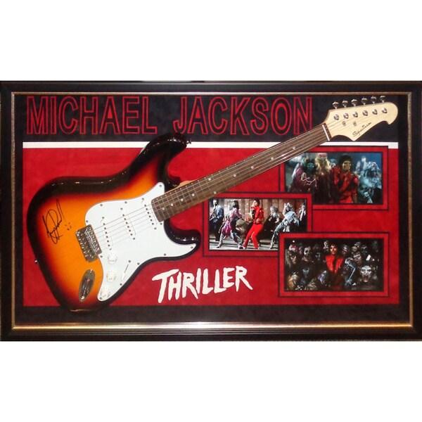 Michael Jackson Thriller Signed Guitar Custom Framed