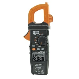 Klein Tools True RMS Clamp-On Meter Auto-Ranging Orange and Black Digital