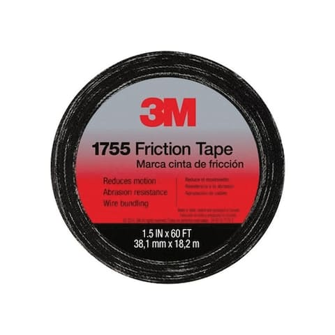 3M 1755 1-1/2 in. W x 60 ft. L Cotton Cloth Friction Tape