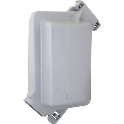 Sigma Rectangle Aluminum 1 gang In-Use Cover For Wet Locations Gray