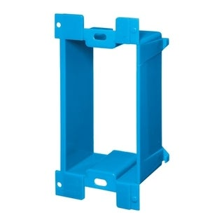 Carlon 10 in. H Rectangle 1 Gang Electrical Box Extender Blue PVC