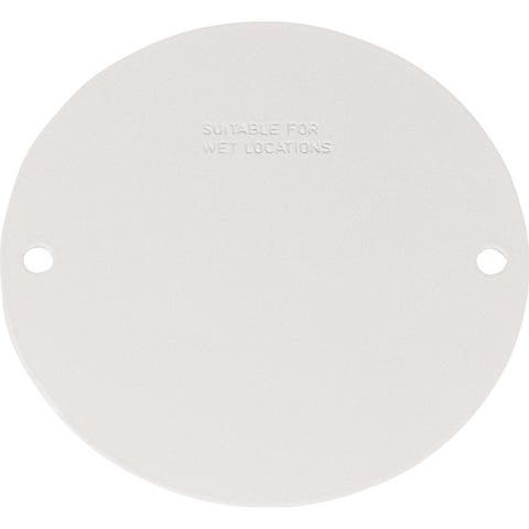Sigma Round Steel Blank Box Cover For Wet Locations White
