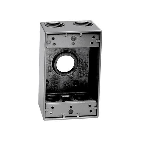 Sigma 4-1/2 in. H Rectangle 1 Gang Outlet Box Gray Aluminum
