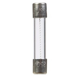 Bussmann Fast Acting Glass Fuse 8 amps 250 volts 1/4 in. Dia. x 1-1/4 in. L 5 pk For Automotive/Electronics