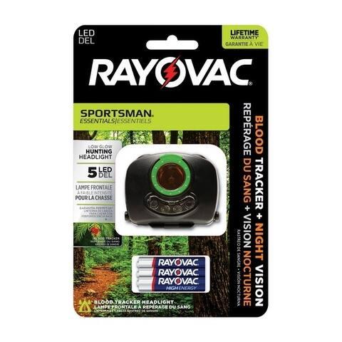Rayovac Sportsman Essentials 70 lumens Headlight LED AAA Black