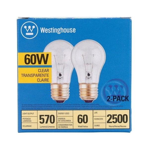 Westinghouse Incandescent Light Bulb 60 Watts 570 Lumens 2700 K A Line A15 Medium Base E26 2 Pk Free Shipping On Orders Over 45