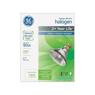 GE Halogen Light Bulb 90 watts 1900 lumens Spotlight PAR38 Medium Base (E26) White 1 pk