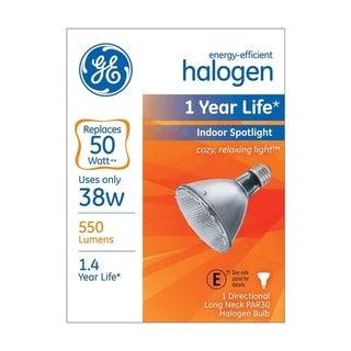 GE Halogen Light Bulb 38 watts 550 lumens Spotlight PAR30 Medium Base (E26) White 1 pk