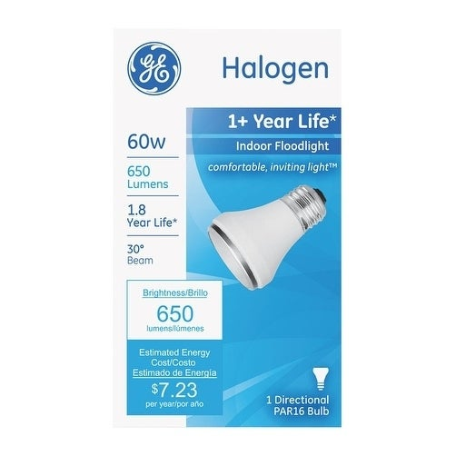GE Edison Halogen Light Bulb 60 watts 650 lumens Floodlig...