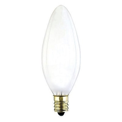 Westinghouse Incandescent Light Bulb 40 Watts 350 Lumens 2700 K Torpedo B9 5 Candelabra Base E12