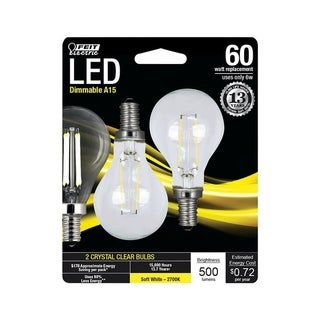 FEIT Electric Performance LED Bulb 6 watts 500 lumens 2700 K A-Line A15 Soft White 60 watts equivalency